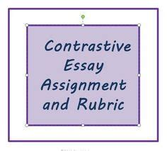 Comparative essay writing rubric